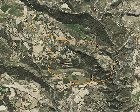 mapa wikiloc ruta ruinas arabes