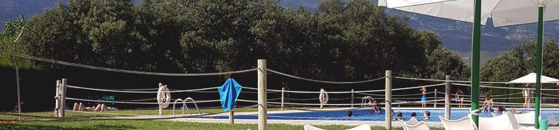 camping con piscina en Huesca
